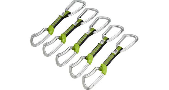Climbing Technology Lime Set NY 5 Pcs - Dégaine - 12cm vert/argent